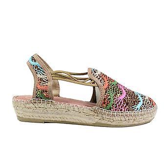 Toni Pons Noa-DA Bronze Multi Coloured Textile Womens Pull On Espadrille Shoes
