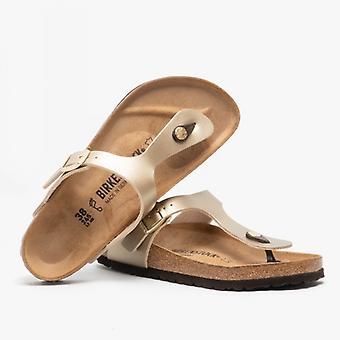 Birkenstock Gizeh 1016108 (reg) Ladies Birko-flor Toe Post Sandaler Guld
