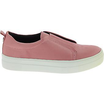 Steve Madden 910003500s00901009001 Kvinnor's Rosa Satin Slip På Sneakers