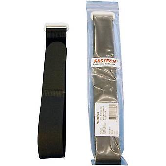 FASTECH® F101-30-400 Cinta de gancho y lazo con correa Gancho y almohadilla de bucle (L x W) 400 mm x 30 mm Negro 1 ud(s)