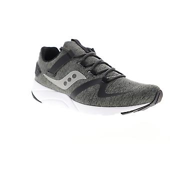 Saucony Grid 9000 Mod  Mens Gray Canvas Athletic Running Shoes