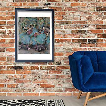 Edgar Degas - três dançarinos Poster impressão giclée