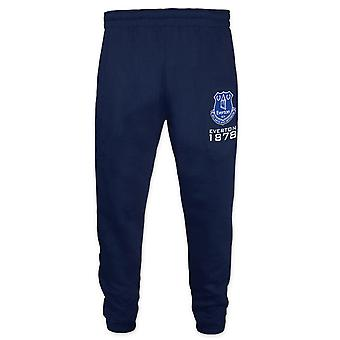 Everton FC Officiel Football Gift Boys Slim Fit Fleece Joggers Jog Pantalon