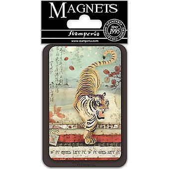 Stamperia Tiger 8x5.5cm magneetti