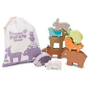 Le Toy Van Petilou Baby Forest Stacker Tower & Bag