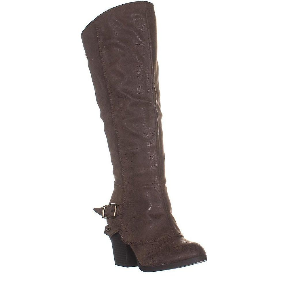 American Rag Womens Emilee Fabric Almond Toe Knee High Fashion Boots W5hy6