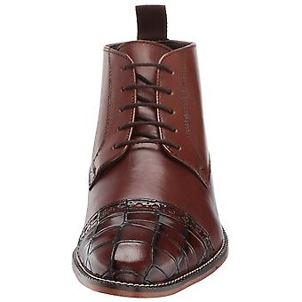 Stacy Adams Mens Franco Crocodile Pointed Toe Ankle Safety Boots