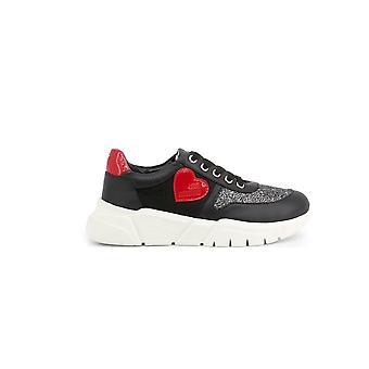 Love Moschino - Shoes - Sneakers - JA15453G1AIQ-400A - Women - black,white - EU 35