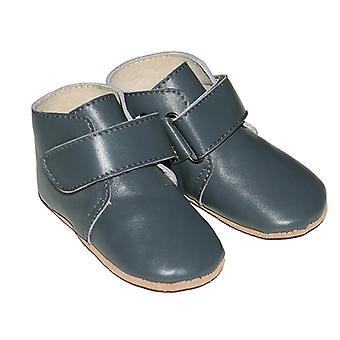 SKEANIE Leather Pre-walker Oxford Boots in Grey