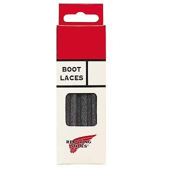 """Roter Flügel schwarz oder braun flach gewachst Schnürsenkel Stiefel Schuhe-48 """" (120 cm)-Schwarz"""
