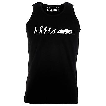 Reality glitch evolution of rugby mens vest