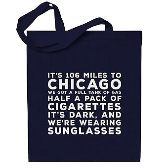 Blues Brothers Sunglasses Quote Totebag