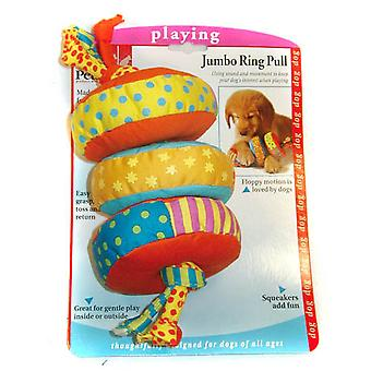 Petstages Durable Denim Squeaky Dog Toy