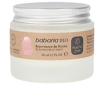 Babaria Bio Crema de noapte Anti-age Detox Calmante 50 Ml pentru femei