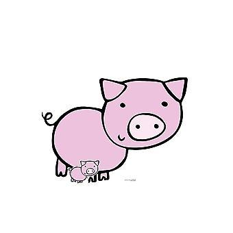 Cute Farmyard Pig Cardboard Cutout / Standee / Standup