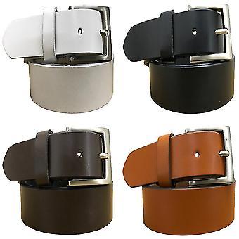 Bradley crompton mens multipack black, brown, tan brown & white (set of 4 belts) twin pack full leather grain casual formal belts bctpb19
