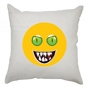 Emoji Cushion Cover 40cm x 40cm Green Eyed