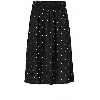 Masai Clothing Sanne Black Spot Print Skirt