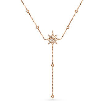 Necklace Red Carpet Stella 18K Gold and Diamonds - Rose Gold