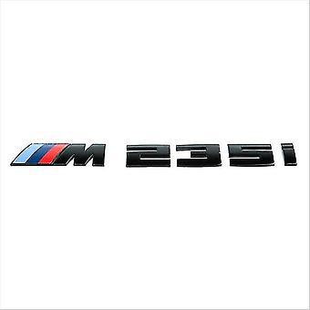 Gloss Black BMW M235i Letters Rear Boot Lid Trunk Badge Emblem For 2 Series F22 F45 F46 170mm x 20mm
