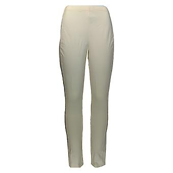 Women with Control Leggings Pull-On Leggings w/ Side Panels Ivory A284263
