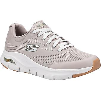 Skechers Mens Arch Fit Lace Up Sports Taupe