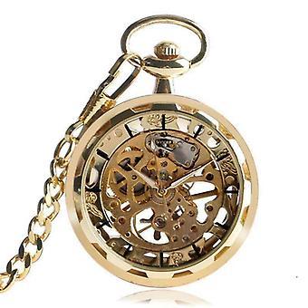 Orologio da tasca meccanico scheletro corsa oro