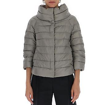 Herno Pi0046dic120179420 Women's Grey Nylon Outerwear Jacket