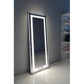 RGB Alexa Audio full lengde gulv speil med varm & Daylight LED