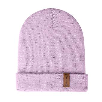 YANGFAN Beanie Cap Knitted Warm Solid Color