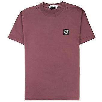 Stone Island 24113 Logo T-shirt Wijn
