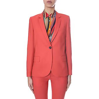 Ps By Paul Smith W2r089jb3040822 Women's Orange Wool Blazer