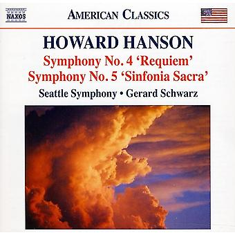 H. Hanson - Howard Hanson: Symphonies Nos. 4 'Requiem' & 5 'Sinfonia Sacra' [CD] USA import