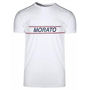 Antony Morato Sport Crew Neck White Chest Print T-Shirt