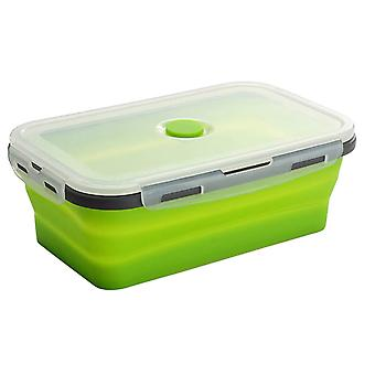 Silicone Collapsible Lunch Box Food Storage Container Bento Bpa Free Microwavable Portable Picnic Camping