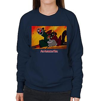 An American Tail Fievel Hides From Cossack Cats Women's Sweatshirt