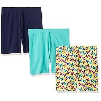 Brand - Spotted Zebra Girls' Big Kid 3-Pack Bike Shorts, Butterflies, ...
