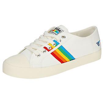 Gola Coaster Rainbow Womens Mode Utbildare i Off White Multicolour