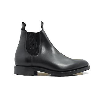 Loake Chatsworth Black Calf Leather Mens Chelsea Boots