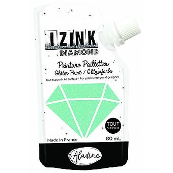 Aladine Izink Diamond Glitter Paint Pastel Green 80ml.