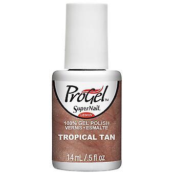 SuperNail ProGel Gel Nail Polish - Tropical Tan 14ml