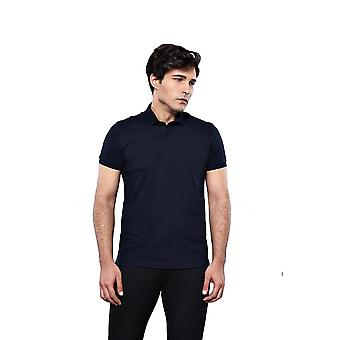 Polo plain navy t-shirt   wessi