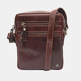 Primehide Mens liten läder tablett Messenger axelväska Man Bag Gents 6278