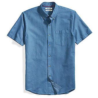 Goodthreads Men's Slim-Fit Kortærmet Solid Oxford Shirt med pocket, Indig...