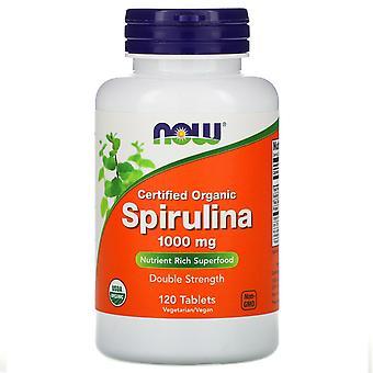 Jetzt Lebensmittel, zertifiziert Bio, Spirulina, 1000 mg, 120 Tabletten