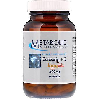 Entretien métabolique, Curcumine + C, 400 mg, 60 Capsules