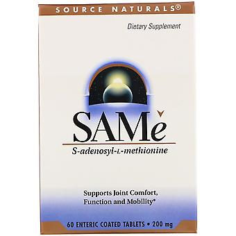 Source Naturals, SAMe, 200 mg, 60 Enteric Coated Tablets