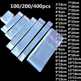 Transparent Plastic Self Adhesive Resealable Small Bags For Pen Jewelry Candy Packing