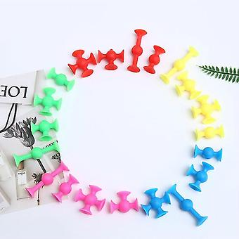 100pcs/the Latest Creative Sucker Toys, For's Puzzle, Plastic Toys.