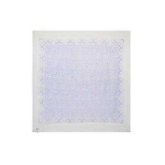 Intrigue femmes/dames grand bleu imprimé carré foulard